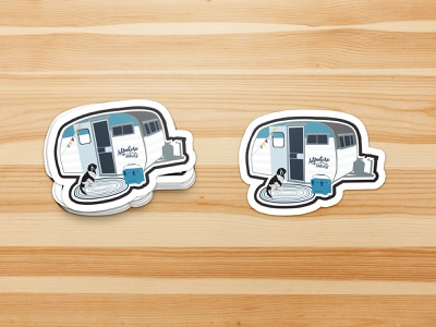 Stickers | Custom Camper Stickers graphicdesign camping vector illustration stickers