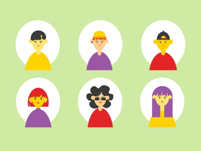 Avatars set group icon communication hipster corporate head man woman human social female male people avatars faces characters vector illustration