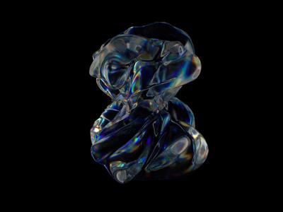Breathing Dispersion fashion distorted glitch dispersion loop orb glass animation design animation animated motion designer motion graphics motion octane render octane cinema4d cinema 4d c4d