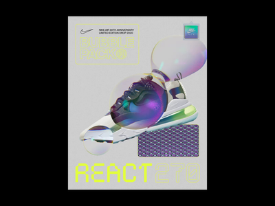 Nike Air Bubble Pack Motion animation designer animation animated glitch after effects motion graphics octane render trainer nike bubble motion designer motion poster octane cinema 4d c4d