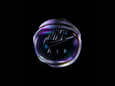 Nike Air Bubble blob motion designer animator motion graphics octane render octane dispersion bubble nike c4d cinema4d loop motion animation
