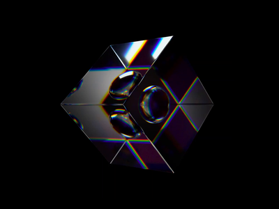 Morphing Geometry motion designer animator spectrum colourful glitch glass 3d art 3d design 3d animated motion graphics motion design cinema 4d relaxing loop animation c4d