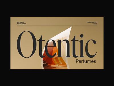 Otentic Perfumes octane render octane 3d renders 3d art motion design c4d cinema4d 3d renders perfume motion graphics animation interface website web design