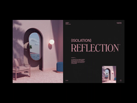 Isolation Reflection² 3d art 3d octane render octane render minimal typography clean layout animator motion graphics animation mirror architecture fashion interior design interior c4d cinema 4d set design