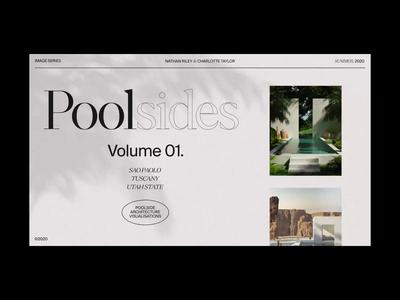 Poolsides motion design interaction ux ui web design website animation motion cgi digital art octane 3d render 3d art 3d cinema 4d c4d
