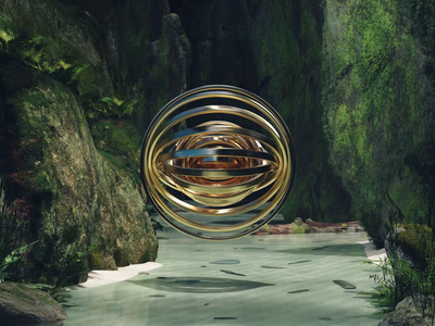 "Unknown Entity – ""CONCENTRIC"" landscape nature motion design animator looping satisfying c4d cinema 4d 3d motion motion animation 3d artist 3d art 3d"