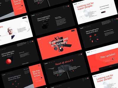 Superlist Screens ⚡ webgl 3d minimal landing page interaction clean interface ux ui web website web design