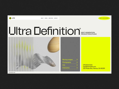 Ultra Definition™ interaction design motion design animation interface ux web website ui web design