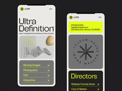 UltraDefinition® Mobile Screens 3d designer 3d design 3d animator interaction design ios mobile interface animation ux web ui website web design