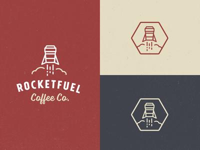 Rocketfuel Branding Development branding logo script coffee rocket typography type lettering icon illustration vintage
