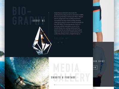 Volcom Website Concept