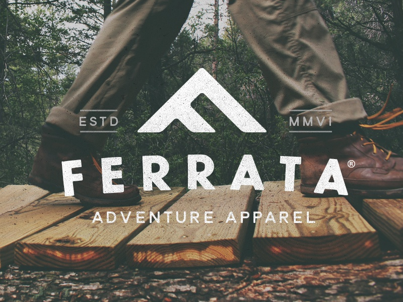 Ferrata Branding identity logo mark brand mark brand icon outdoors vintage apparel clothing adventure logo branding