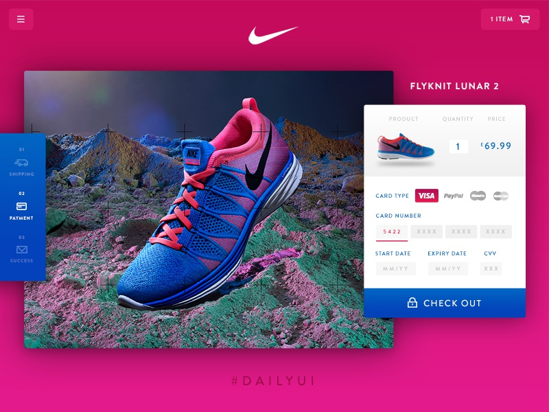 Credit Card Checkout - Daily UI 002 website web web design ecommerce shop card nike checkout ux ui daily ui dailyui