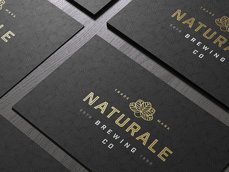 Naturale Brewing Co. Business Card Concept stationery business cards illustration logo design identity brew ale beer vintage logo branding brand