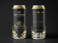 Naturale Brewing Co. Can Design illustration brand identity logo brand branding product design beer can can amber ale ale beer packaging