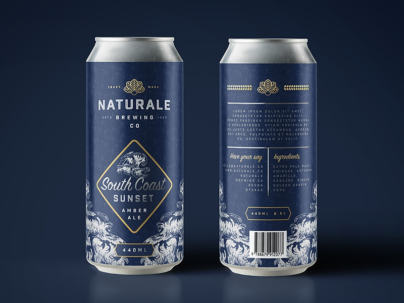 Naturale Brewing Co. Limited Edition Can Design mock up brewing brewery brand identity logo brand branding product design can ale beer packaging