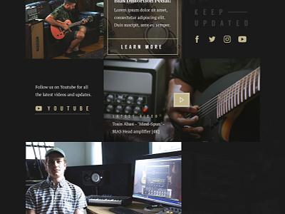 Positive Grid Homepage branding typography script music daily ui clean audio ux ui web design website web