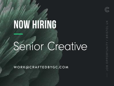 Now Hiring: Senior Creative  illustration web design branding opportunity career job ad designer job