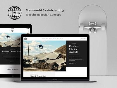 Transworld Skateboarding Redesign Preview