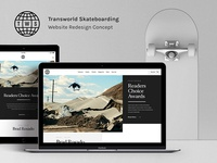 Transworld Skateboarding Redesign Preview