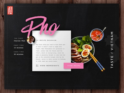 Pho Recipe Tile