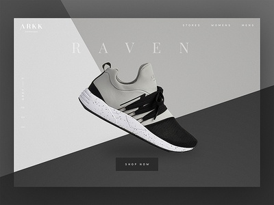 Arkk Shoe Landing Screen
