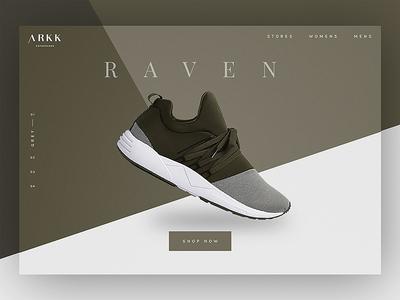 Arkk Shoe Olive Landing Screen