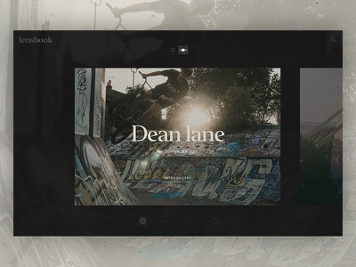 Lensbook Gallery / Day 02 30dod photography photo gallery interface dark bmx skatepark gallery ux ui website web design