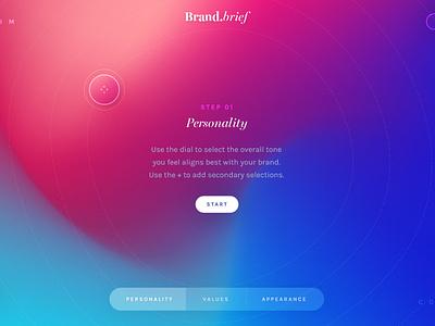 Brand.brief / Day 19 colourful interface brand website ux ui interaction branding web design 30dod
