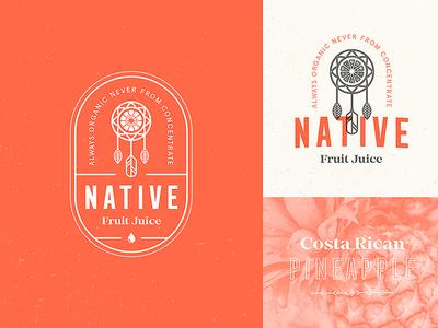 Native Fruit Juice / Day 20 native typography badge mark stamp logo juice fruit dreamcatcher vintage branding brand