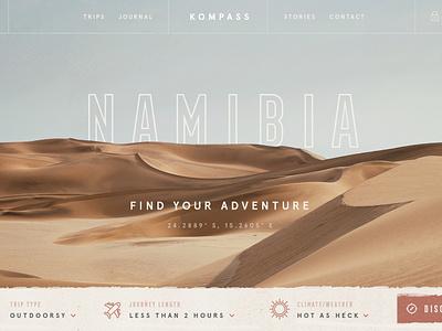 Adventure Search III / Day 21 web design texture website header sand adventure trip desert dunes ui ux branding