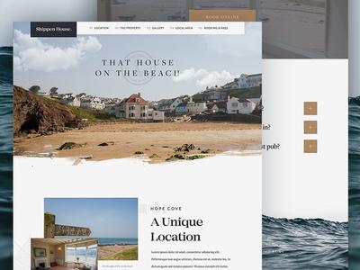 Coastal Holiday Home / Day 25 web design texture website header surf holiday coast travel beach ui ux branding
