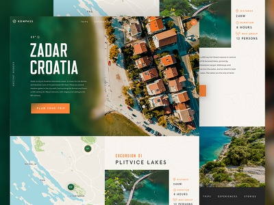 Travel Landing Page Zadar / Day 26 colourful interface croatia website ux ui travel landing page web design 30dod