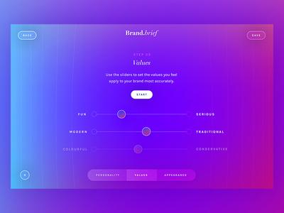 Brand.brief / Day 24 30dod web design branding interaction ui ux website brand interface colourful