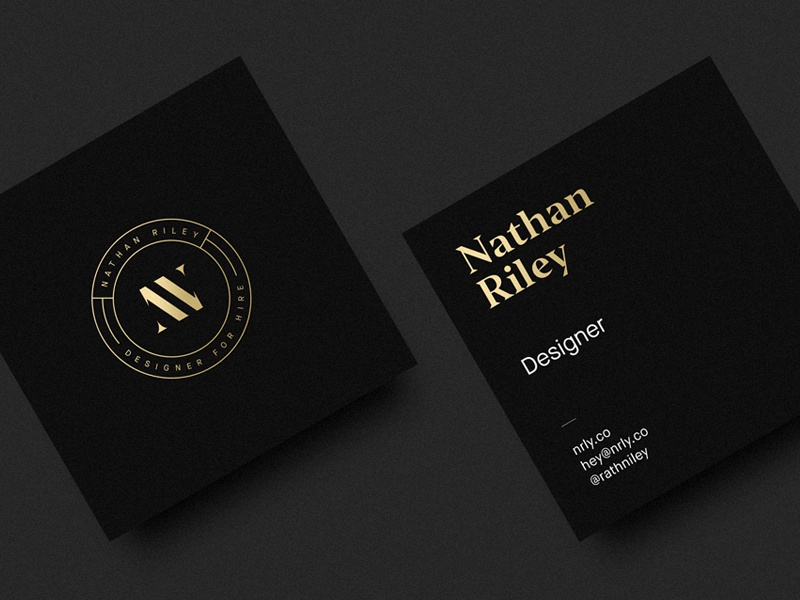 Personal Business Cards By Nathan Riley Dribbble Dribbble