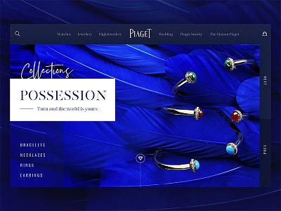 Piaget Collection Concept elegant lookbook ux ui website web design web premium luxury fashion jewellery