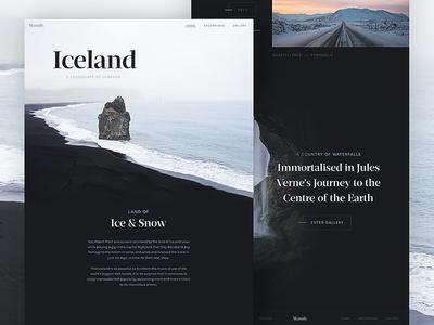 Wandr: Iceland ux ui serif minimal clean nordic iceland photography interface travel web design web
