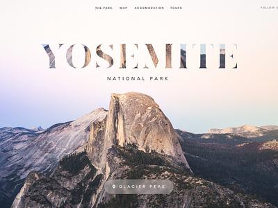 Wandr: Yosemite Header Transition web design web ui yosemite serif photography travel minimal interface clean mountain animation