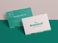 Botanical Coffee Business Cards