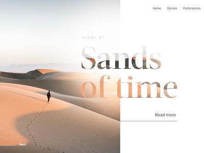 Article Header typography serif clean desert minimal blog article web design website web
