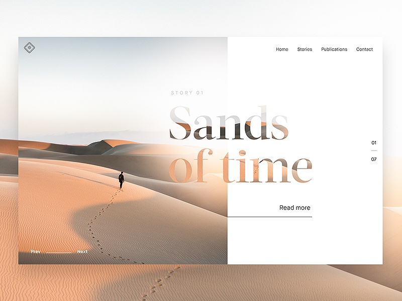 Article Header typography serif clean desert minimal blog article web design website web