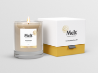 Melt Candle Co. Packaging packaging textured stamp typography type brand candle vintage badge logo branding