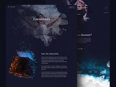 Asaro – Case studies underwater travel brand interaction typography landing page minimal clean branding interface ux ui website web web design