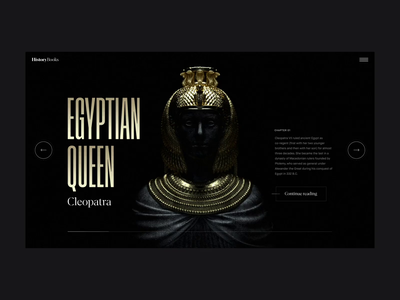 Egyptian Dynasties Transitions octane render octane cinema 4d after effects landing page animation clean interface ux ui web website web design
