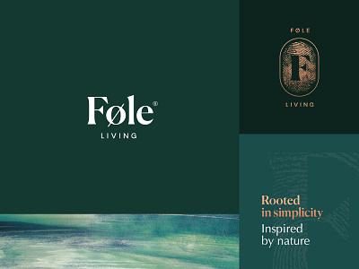 Føle Living Branding fingerprint clean lifestyle nature type typography identity minimal brush paint foil copper badge logo branding agency branding