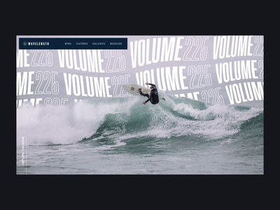〰️Wavy Type sports surfing surf photography travel typography after effects interaction landing page animation clean interface ux web website ui web design