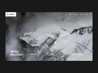 Mont Blanc: Text Reveal mountain scroll travel after effects interaction minimal landing page animation clean interface ux web ui website web design