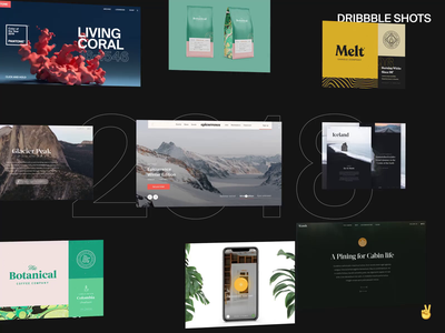 Top 9 – 2018 landing page photography travel brand logo typography branding cinema4d after effects interaction minimal 2018 dribbble top 9 interface ux web website ui web design