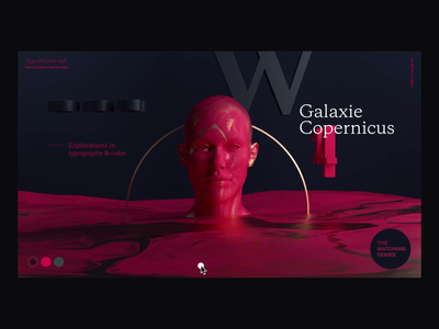 Type & Color — 008 / Explorations interaction animation ux ui type experiment color typography ui design website interface after effects octane cinema4d abstract web design