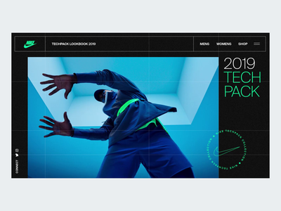 Techpack Grid Transition transition gallery lookbook minimal interaction ux web clean interface animation ui design ui web design